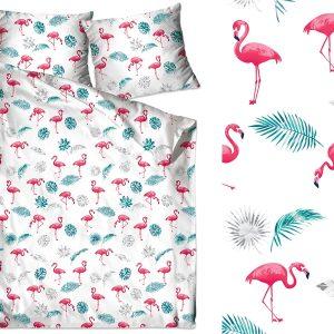 Bawełna Flamingi