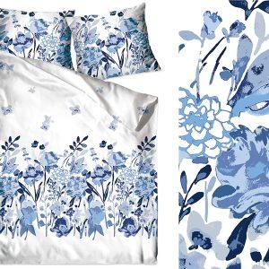 Bawełna Flo błękit